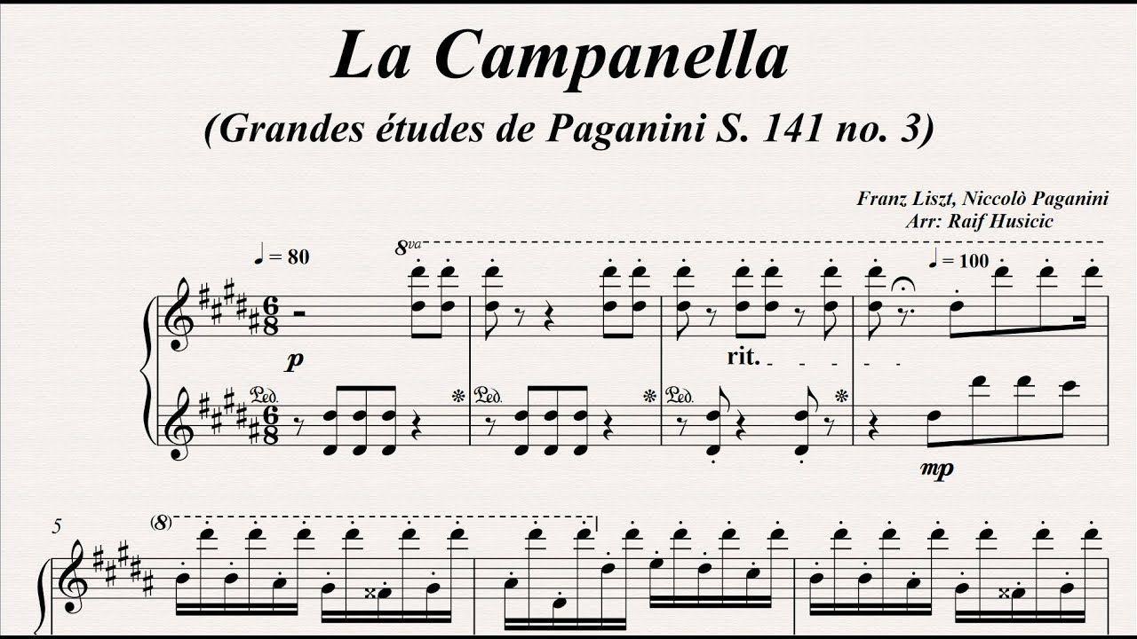 La Campanella Grandes Etudes De Paganini S 141 No 3 Franz Liszt Niccolo Paganini Piano Youtube In 2021 Importance Of Education School Of Medicine Words