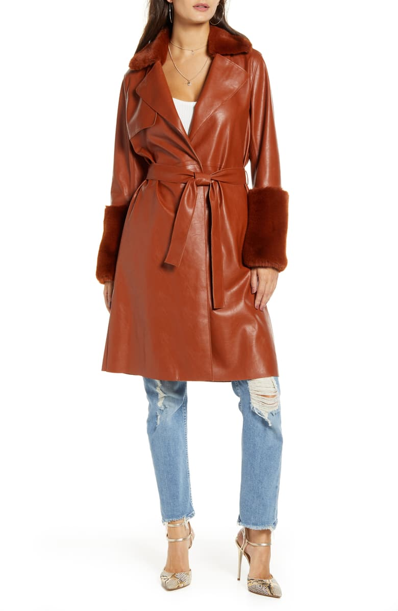 Free shipping and returns on BLANKNYC Faux Leather Coat