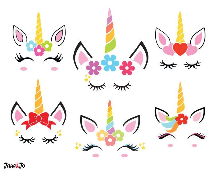 Unicorn Svg Unicorn Face Svg Unicorn Head Svg Unicorn Clipart