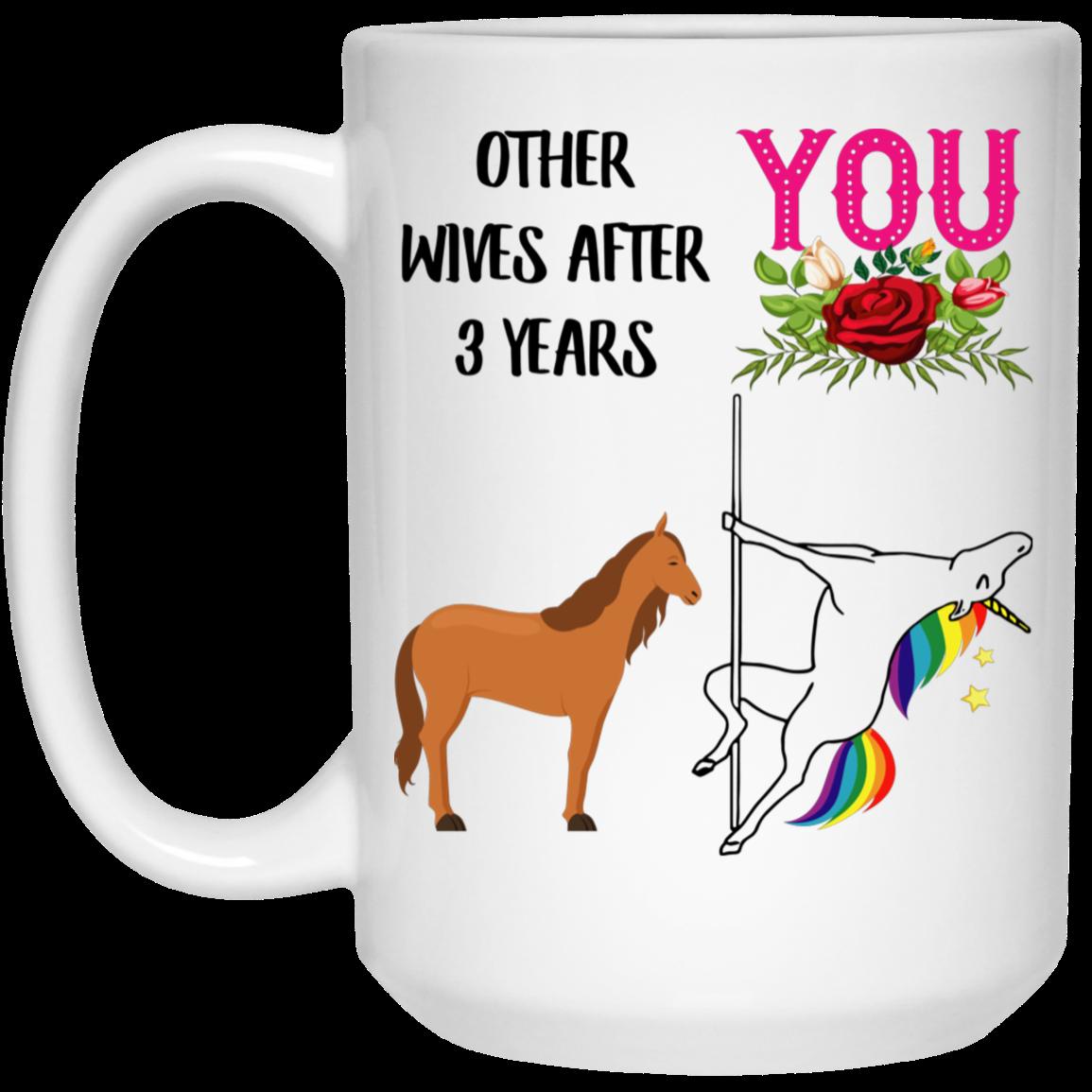 3 Year Anniversary Gift For Wife Mug Anniversary gifts