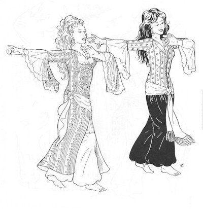 Amazon.com: Al-zahras Ghawazee Coat Pattern (Belly Dance): Arts ...