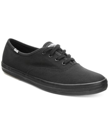 79fa9ae206a4 Keds Women s Champion Ortholite Lace-Up Oxford Fashion Sneakers - Black 9.5M