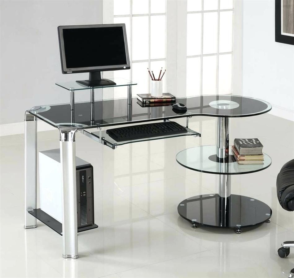Officemax Clear Glass Desk - Space Saving Desk Ideas Check more at ...
