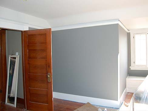 Mixing stained salvaged solid wood doors with white trim for Combining stained and painted trim