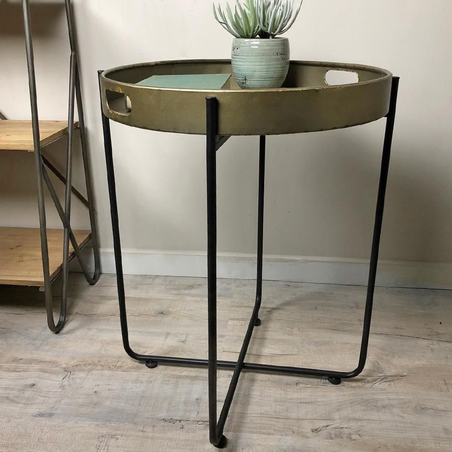 Wondrous Large Industrial Metal Tray Table Metal Trays Home Remodeling Inspirations Cosmcuboardxyz