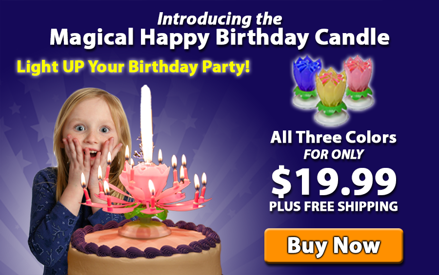 Flowering Musical Birthday Candle Worlds Most Unique Has Anyone Tried This
