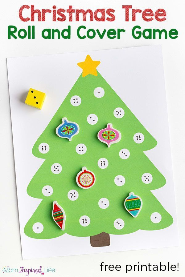 Christmas Tree Math Activity - A Roll and Cover Game | Games ...