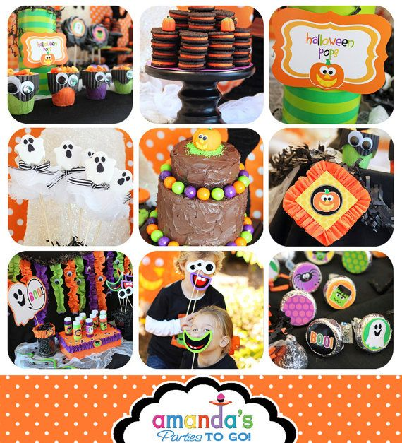 Halloween Party Printable Huge Party Set by by AmandasPartiesToGo