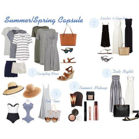 Summer/Spring Capsule Wardrobe | Capsule wardrobe, Fall capsule wardrobe, Capsule outfits