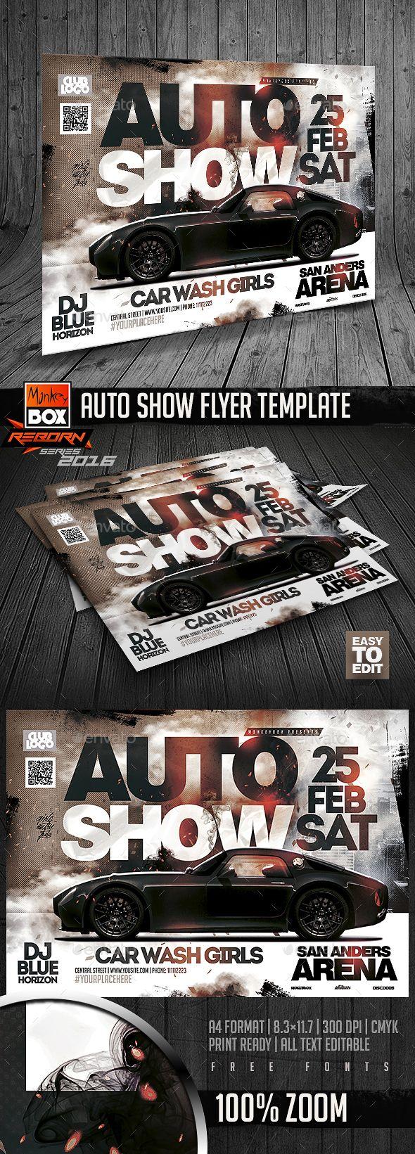 Auto Show Flyer Template | Diseño digital, Volantes y Hola