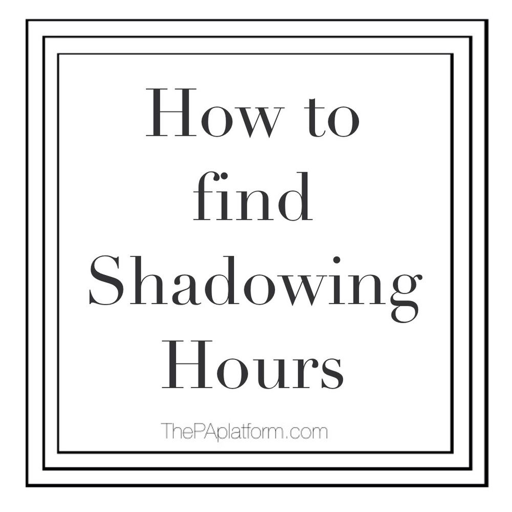 how to get shadowing hours