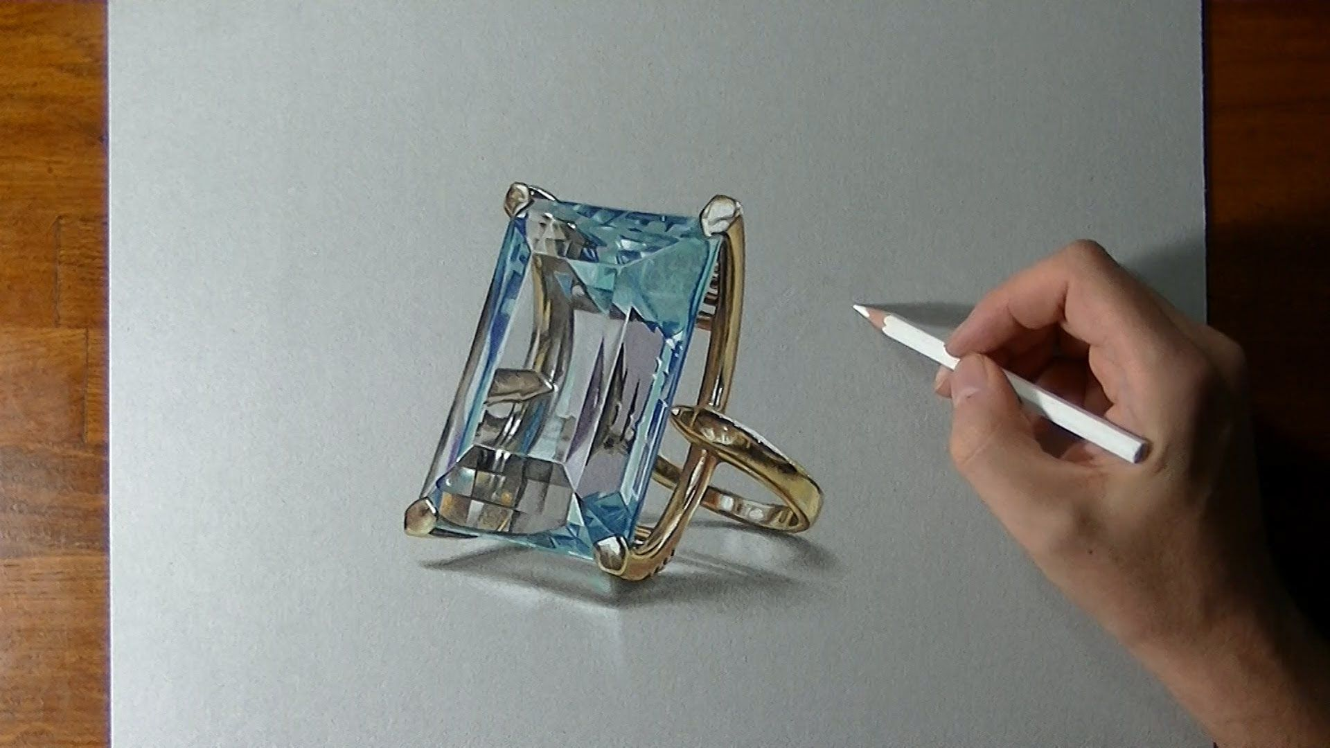 how to draw realistic diamond