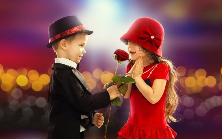 Small Cute Couple With Red Rose Wallpaper Top Love Story Love