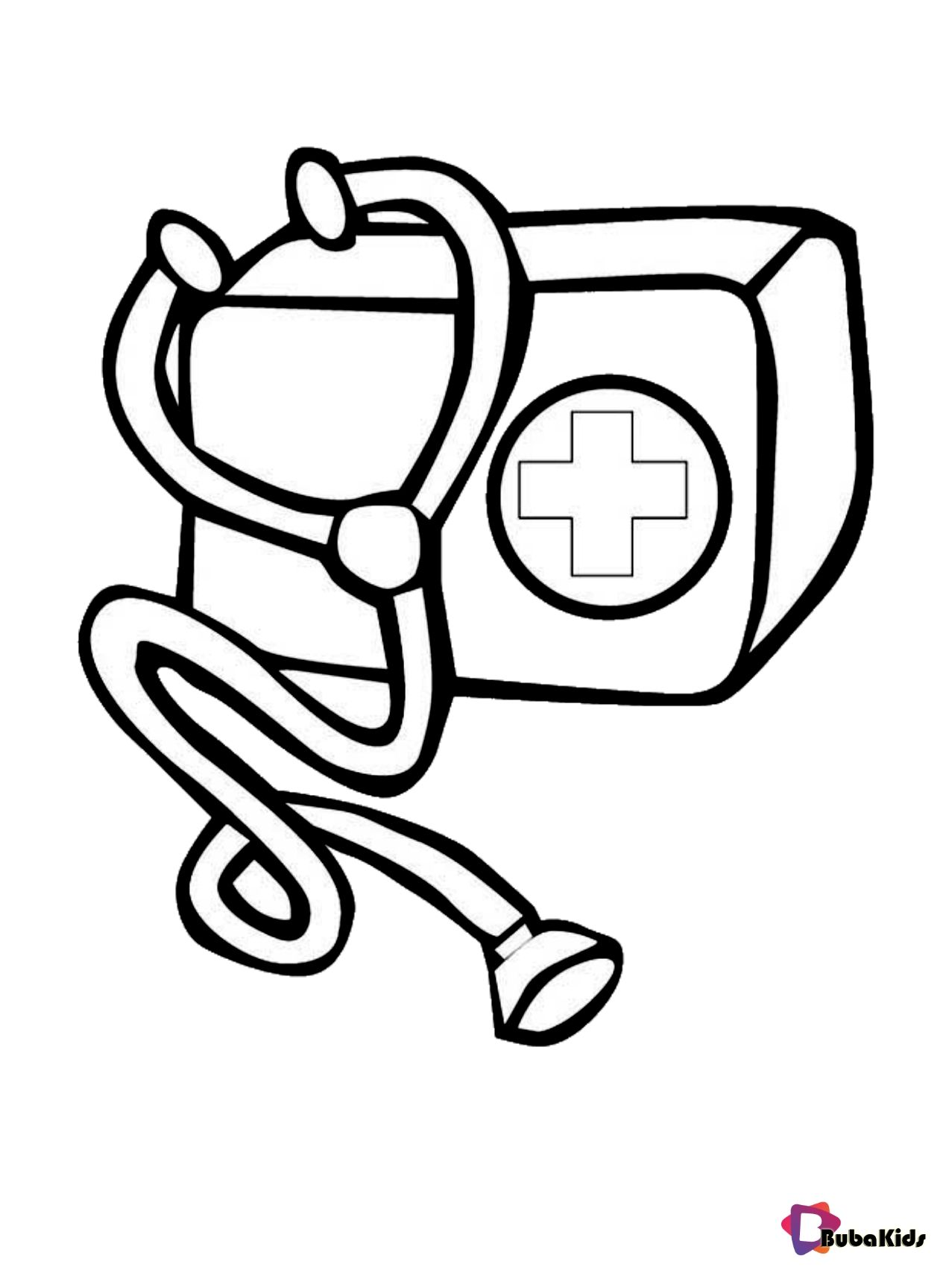 Medical Kit Bag Coloring Page Collection Of Cartoon Coloring Pages For Teenage Printable That You Can Downlo In 2020 Coloring Pages Cartoon Coloring Pages Medical Bag