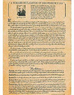 Framed Woman S Declaration Of Independence Elizabeth Cady Stanton Seneca Falls Declaration Of Independence