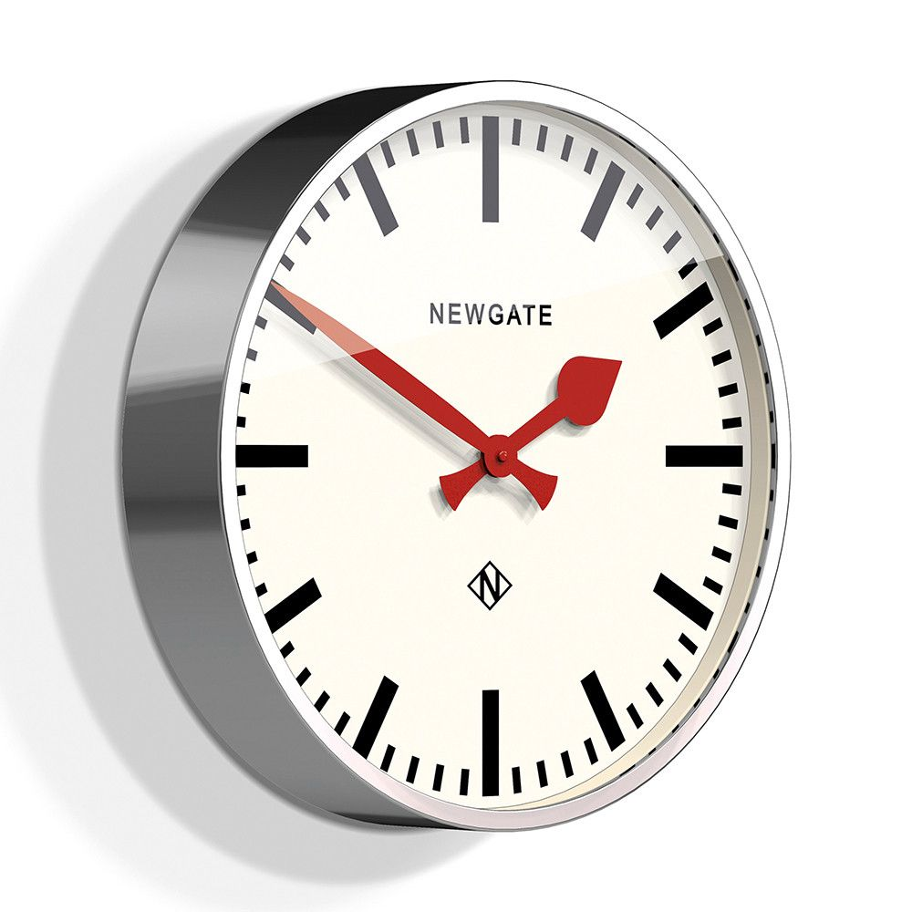 Newgate clocks the large putney wall clock chrome open plan newgate clocks the large putney wall clock chrome amipublicfo Gallery