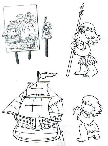 Descarga Otras Imagenes Aqui Biografia De Cristobal Colon 12 De Octubre Dibujo La Resistencia Indigena Dia De La Cultura