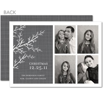 Chilly Branches - stylish neutrals and grays make for a sophisticated holiday card this year