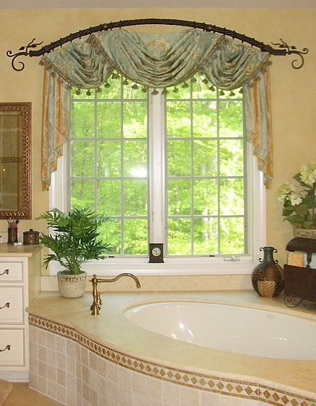 Orion Designer Pride Pretty Arched Drapery Rod Metropolis Iron Can Fabricate D Large Window Treatments Bathroom Window Curtains Window Treatments Bedroom