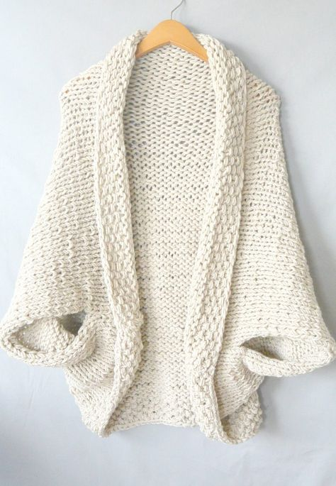 Easy Knit Blanket Sweater Pattern   Knit gloves, hats,scarves ...