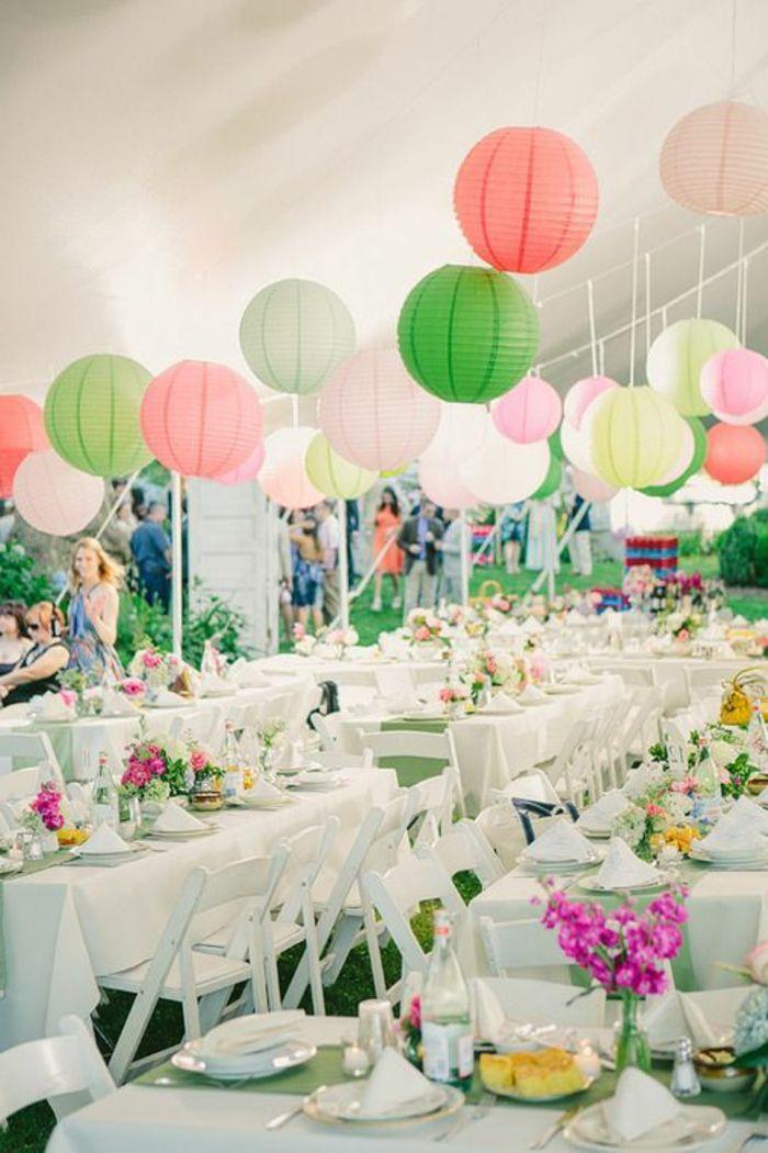 Hochzeitsdeko Gartenparty