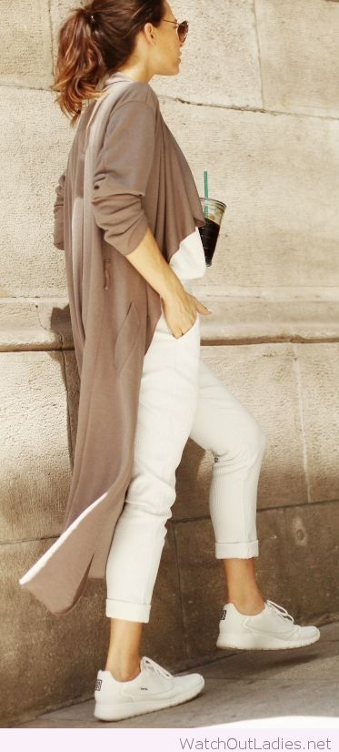 Lovely brown draped trench coat