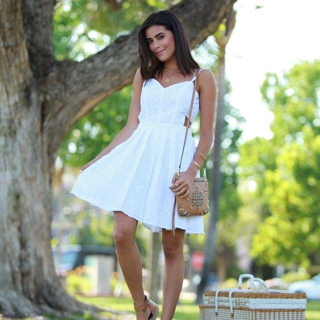 Little white dress and a picnic basket today on www.sazan.me. ❤️ (Link in profile) #ontheblog #ootd #whitedress #memorialday  @liketoknow.it www.liketk.it/1pTmq #liketkit #shopwithsaz