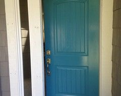 DIY Painting Project: A Colorful Front Door ... Behr Harbor