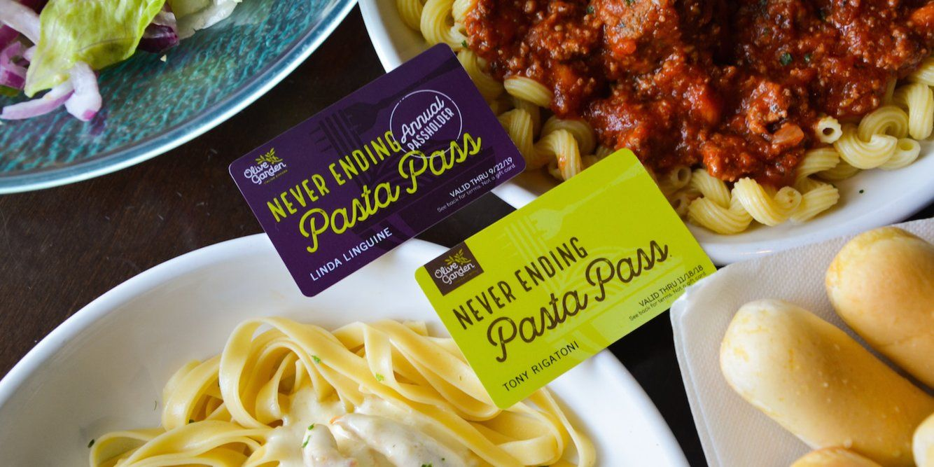 Olive garden is selling a pass that gives you a year of