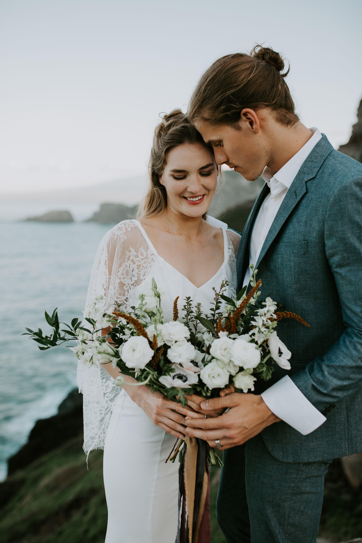 Hawaii wedding hawaii wedding photographer cliffside elopement