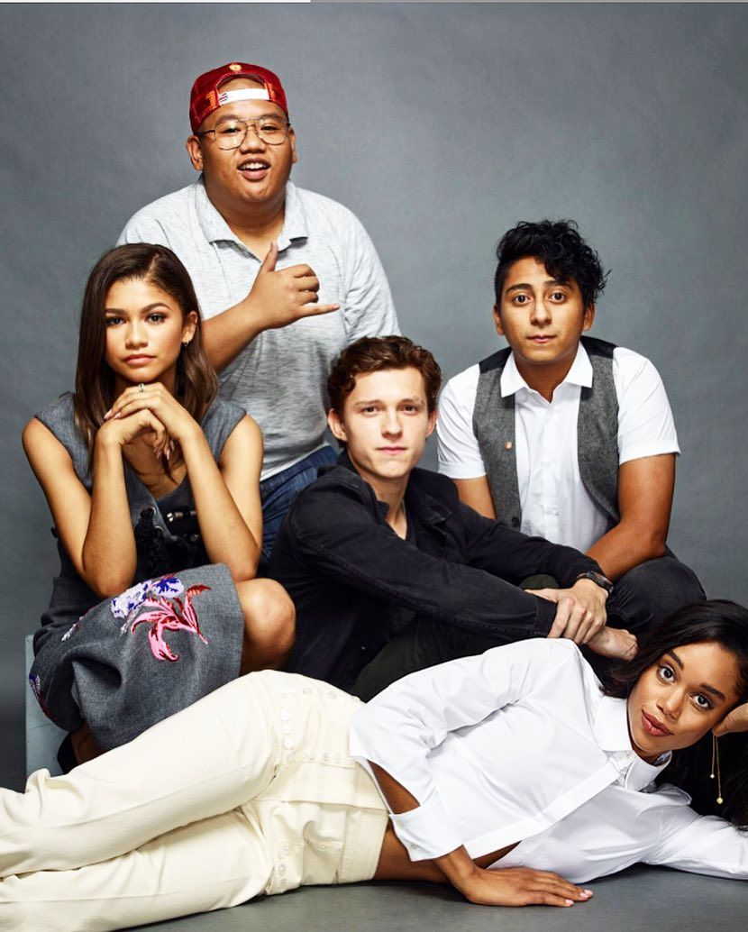 9da2ddc5df69 Zendaya, Jacob Batalon, Tom Holland, Tony Revolori, & Laura Harrier ...