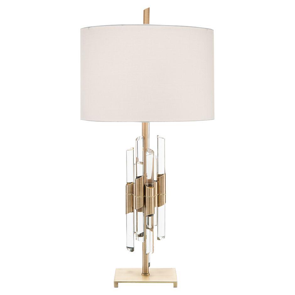 brass crystal rod antique brass table lamp bright ideas brass rh pinterest com