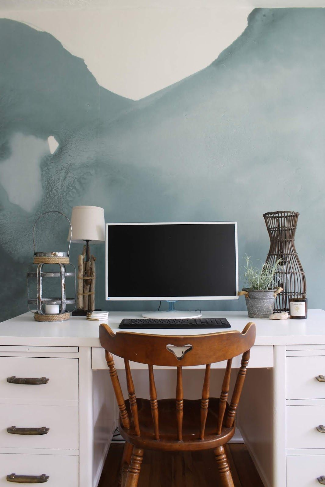 My Zen Office Sunroom Makeover And A Mural Wallpaper Zen Office