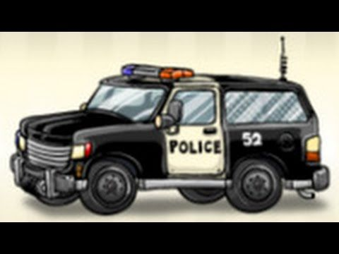 Emergency Vehicles Cartoons For Children Police Truck Service