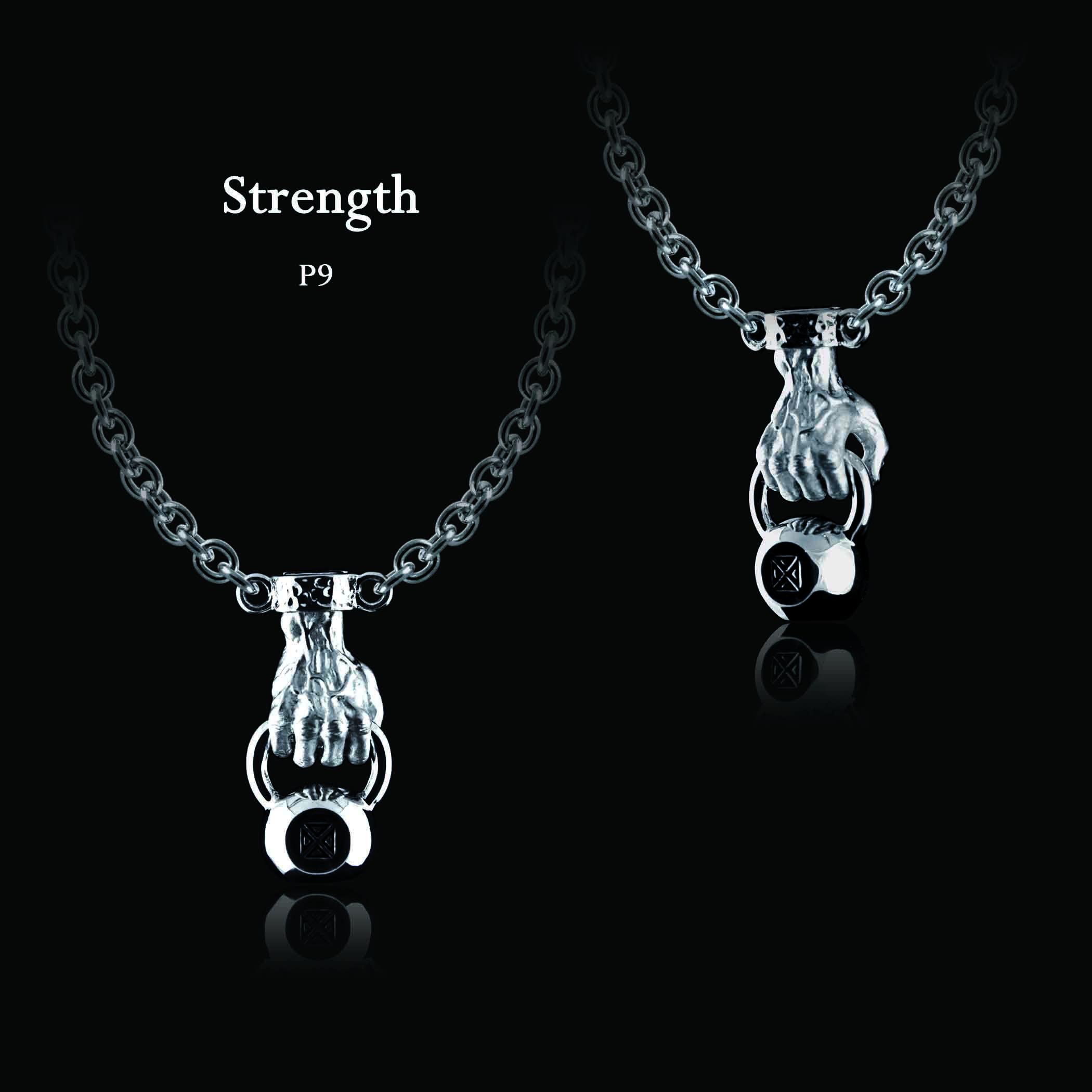 """ECKS """"Strength"""" men's sterling silver kettlebell pendant. #ECKS #strength #mensjewelry #sterlingsilver #kettlebell #atphoenixjewellers"""