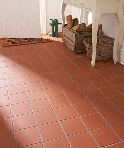 Quarry Red Tiles From Topps Tiles For Our New Utility Room
