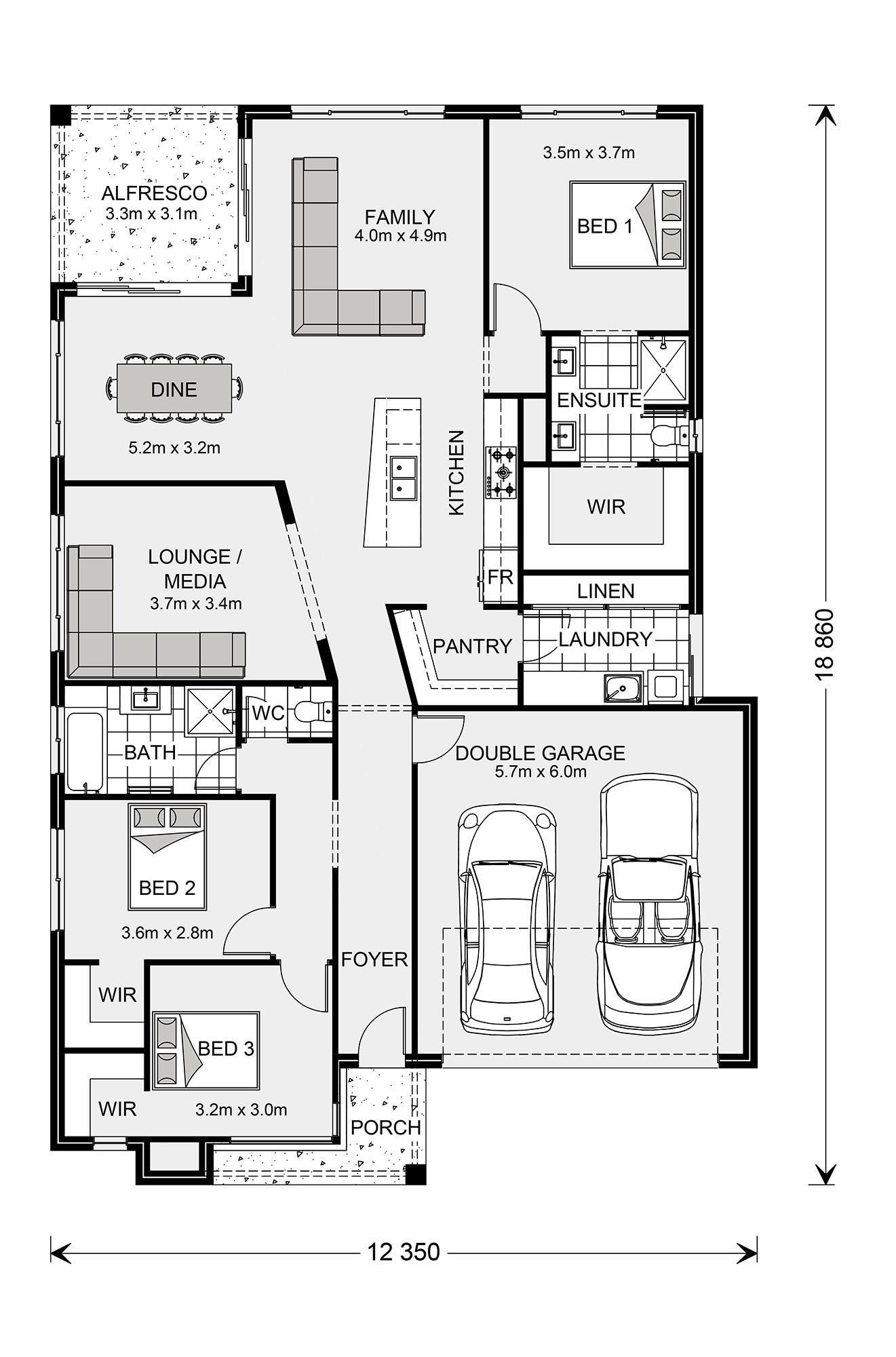 Beachlands 270 Design Ideas Home Designs In G J Gardner Homes House Floor Plans Floor Plans House Plans