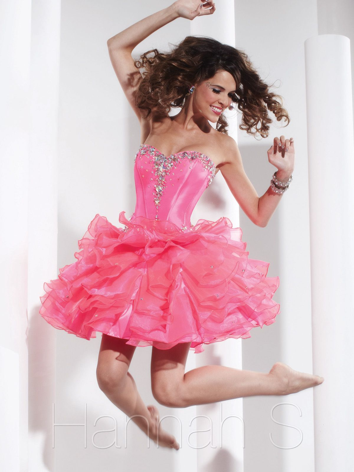 Look like the cutest doll in this short prom dress Spring collection ...