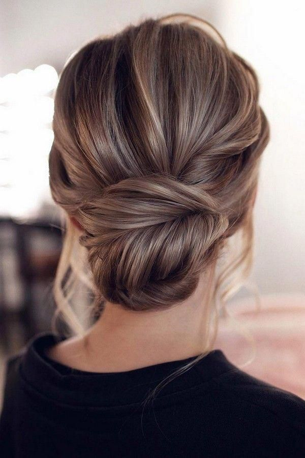 Messy Updo Low Bun Wedding Hairstyle From Tonyastylist Weddings Weddingupdos Weddinghairstyl Simple Wedding Hairstyles Hair Styles Medium Length Hair Styles