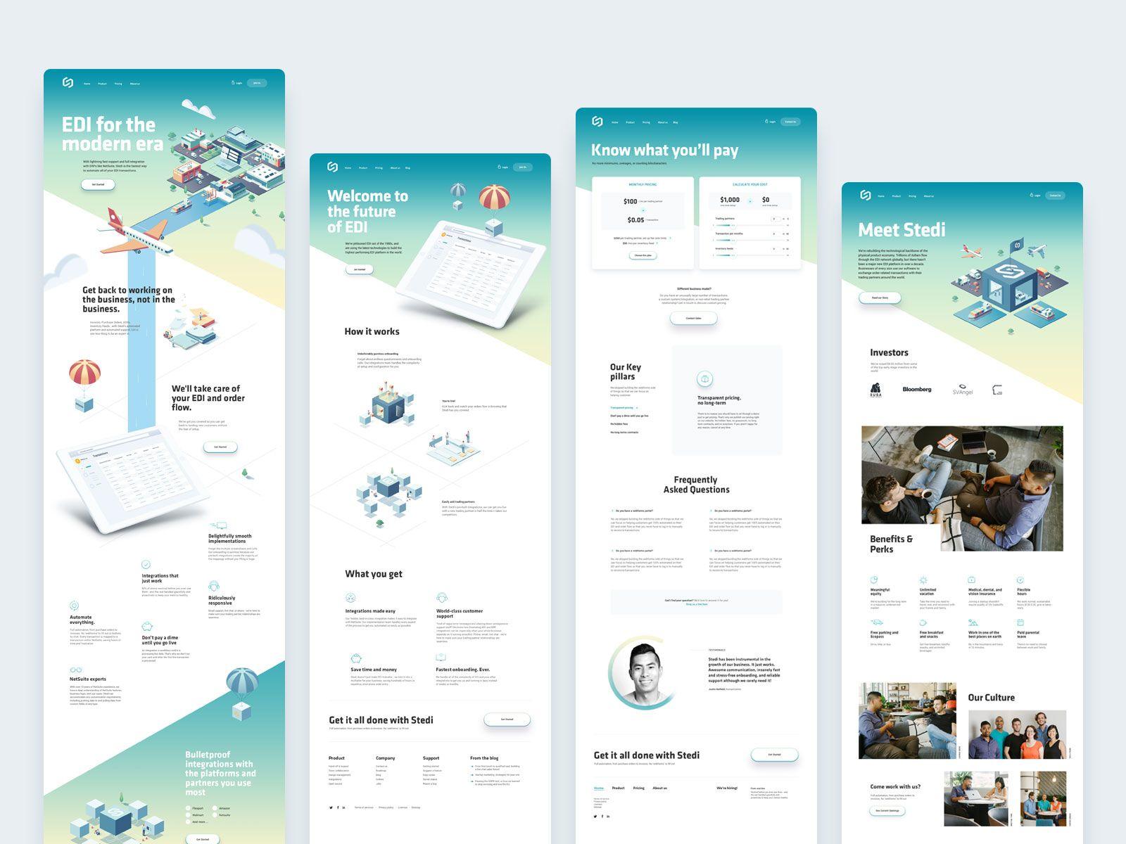 Saas Edi Landing Pages Landing Page Saas Web Design