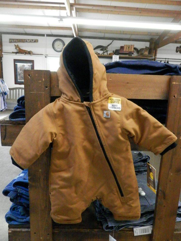 2c6f68b24 Carhartt Infant/Toddler CM8658 BRN Quick Duck Outerwear Snowsuit Size 6M # Carhartt #Snowsuit #Everyday