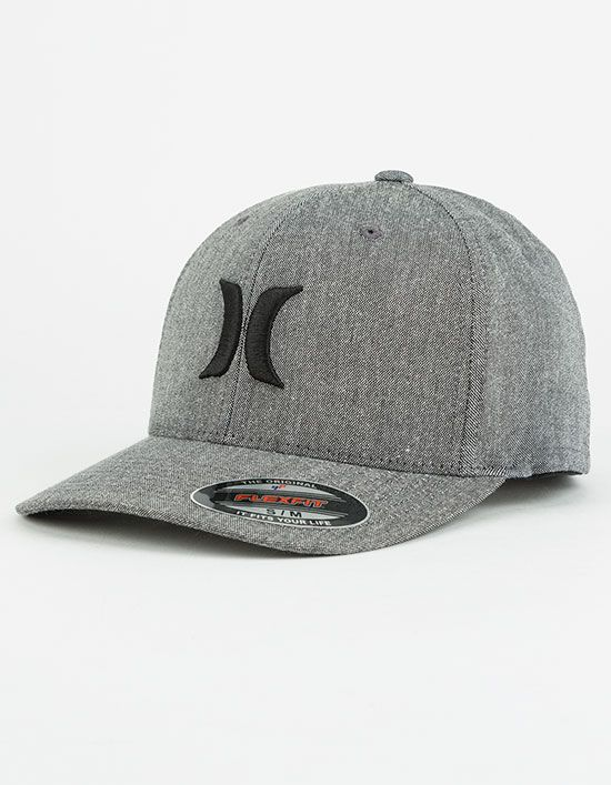 Hurley Black Suits Outline hat. Raised Hurley embroidery on the front. Flex  stretch fit. 50% polyester 45% cotton 5% spandex. Imported. c94d3345b36e