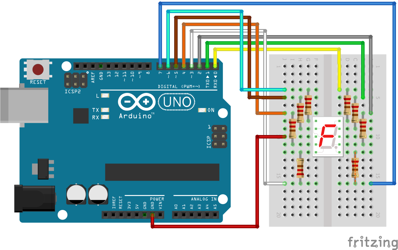 Learn to interface seven segment display with Arduino UNO.The ...
