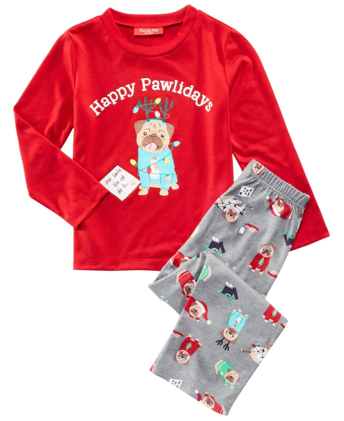 Hatley Little Blue House Girls Holiday Cocoa Pajama Set
