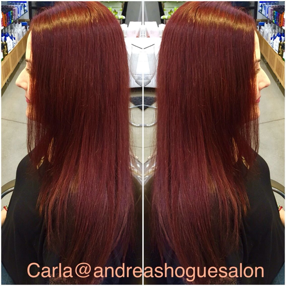 Amazing Red With Matrix Socolor 6rv And 6rr By Carla Andreashogue