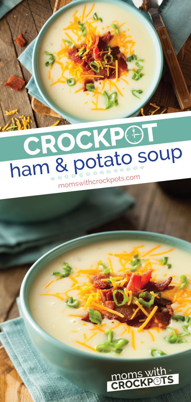 Crockpot Ham and Potato Soup #potatosoup