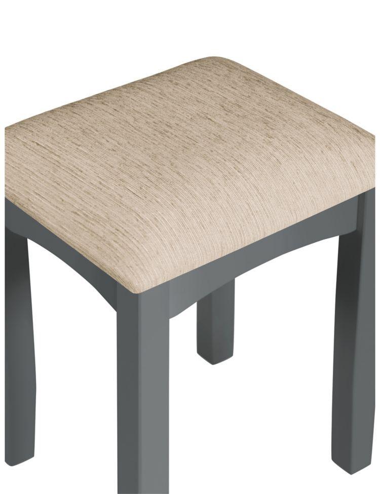 Best Hastings Dark Grey Dressing Table Stool Set Grey 400 x 300