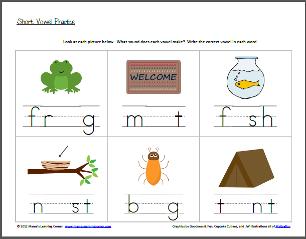 Worksheet 604780 Vowel Worksheets for Kindergarten Free – Vowel Sounds Worksheets for Kindergarten