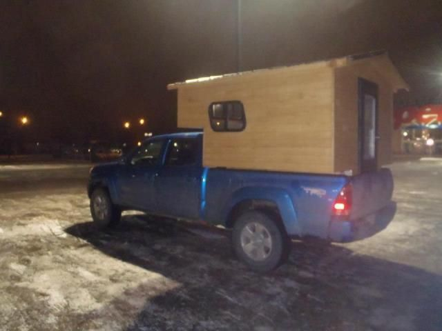 Micro Truck Camper Cabin Price 3500 Located In Edmonton Alberta Canada Tinyhouselistings Mirco