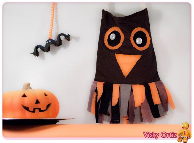 Manualidades para halloween brujas fantasmas esqueletos - Calabazas para halloween manualidades ...